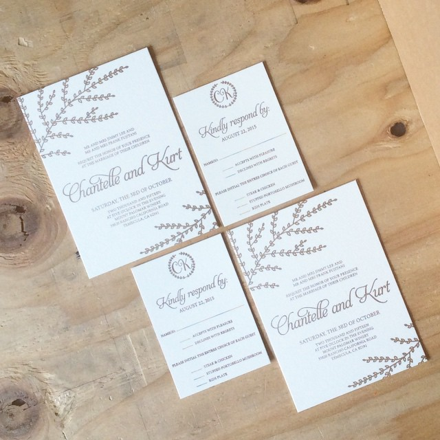 Rose Gold Wedding Invitations and RSVP cards.jpg
