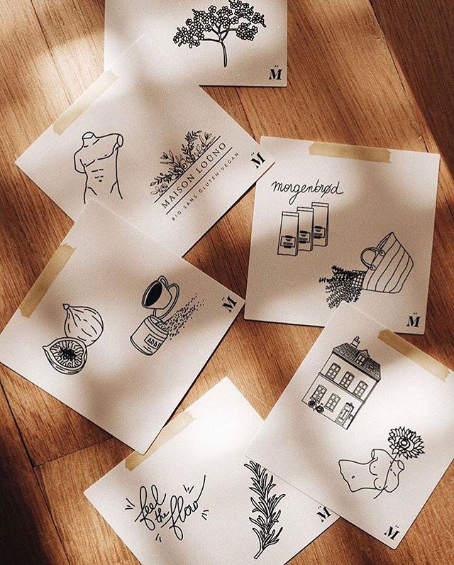 🌻nouvelles illustrations pour @maisonlouno🌻 . . . #maisonlouno #stickers #plant #fruits #copenhagen #morgenbrød #body #adaptogens #graphicdesign #artdirection #leasoumali #collab #handmade #handmadeart #art #illustrationoftheday #pink #madeinfrance #glutenfree #pain #bio #vegan #illustrationart #artwork #illustratrice #parisart #photoby @louiseskadhauge