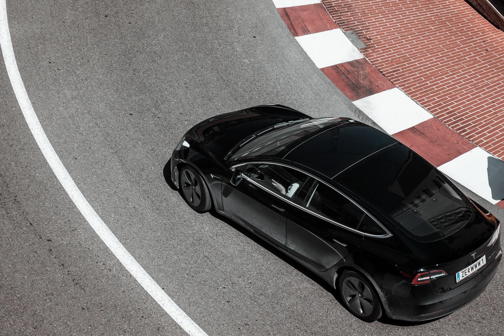 Tesla with window tinting