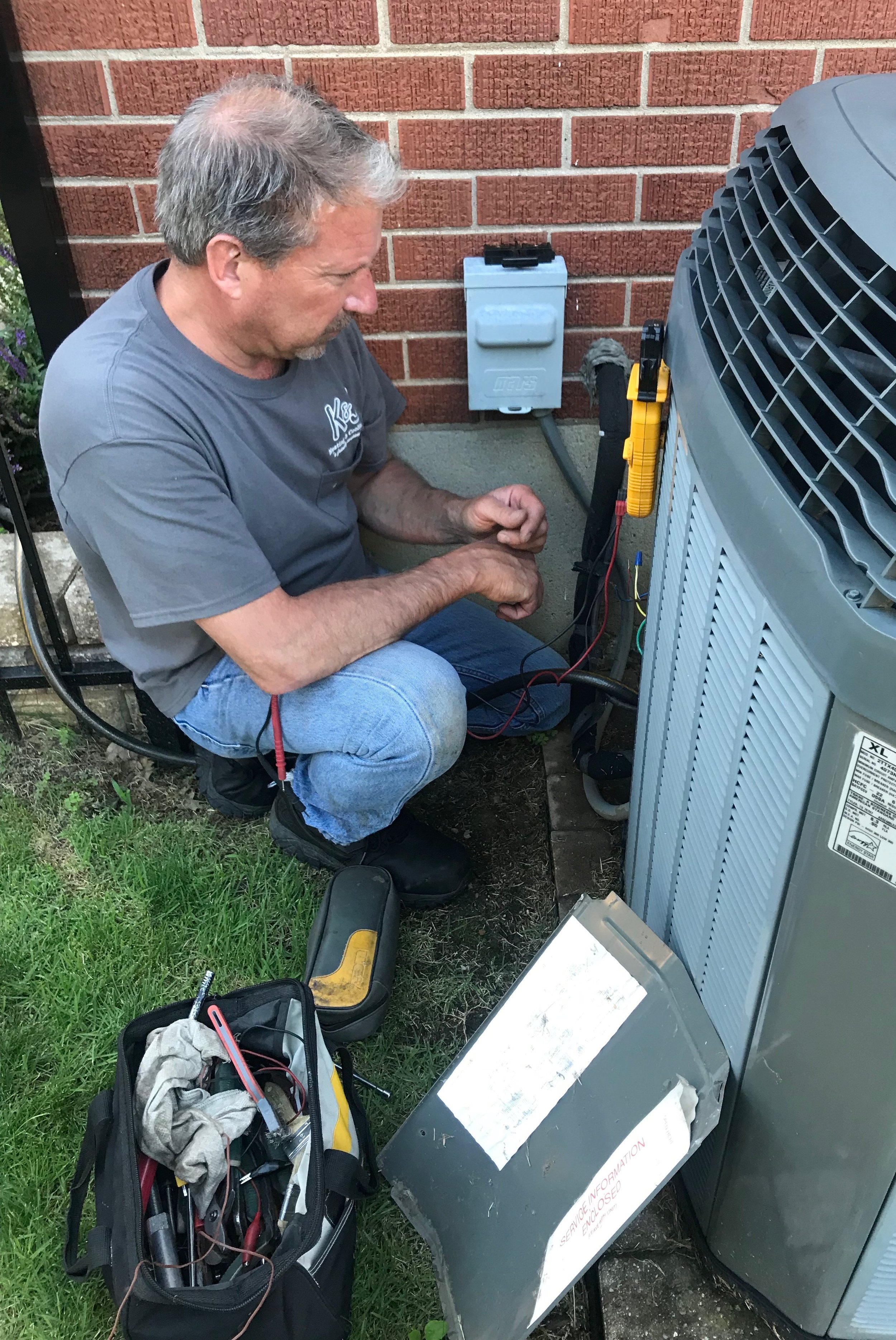 Air Conditioner Maintenance Tune Up by K & J Heating and Cooling