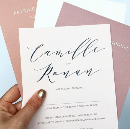 'Absolutely loved our invitations, they were perfect.' - Camille Childe