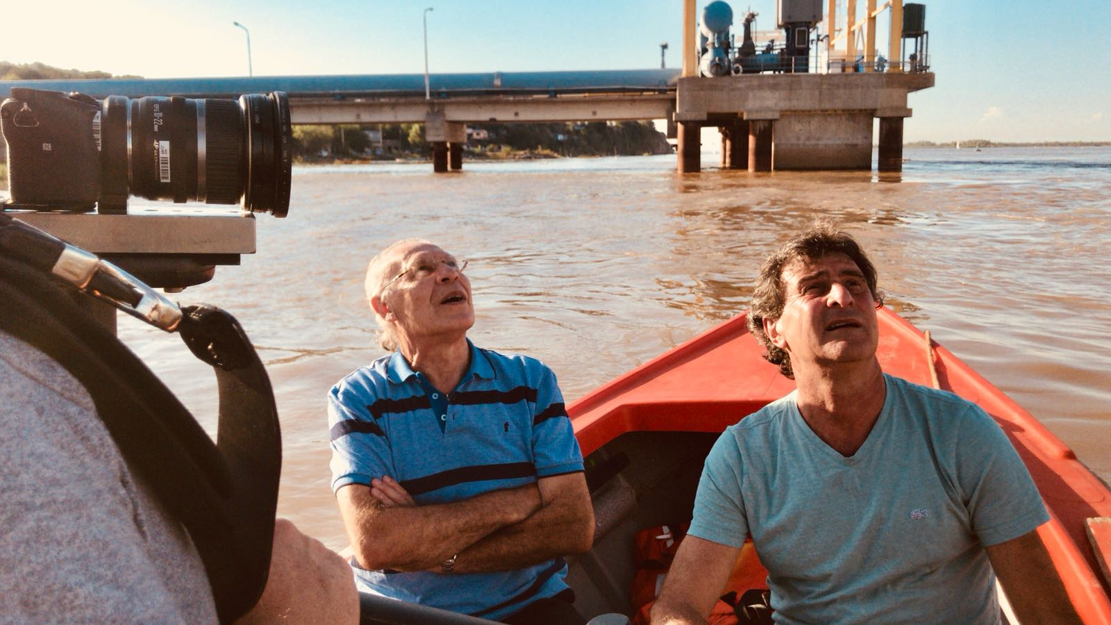 In Argentina, filming Mario Kempes' new documentary.