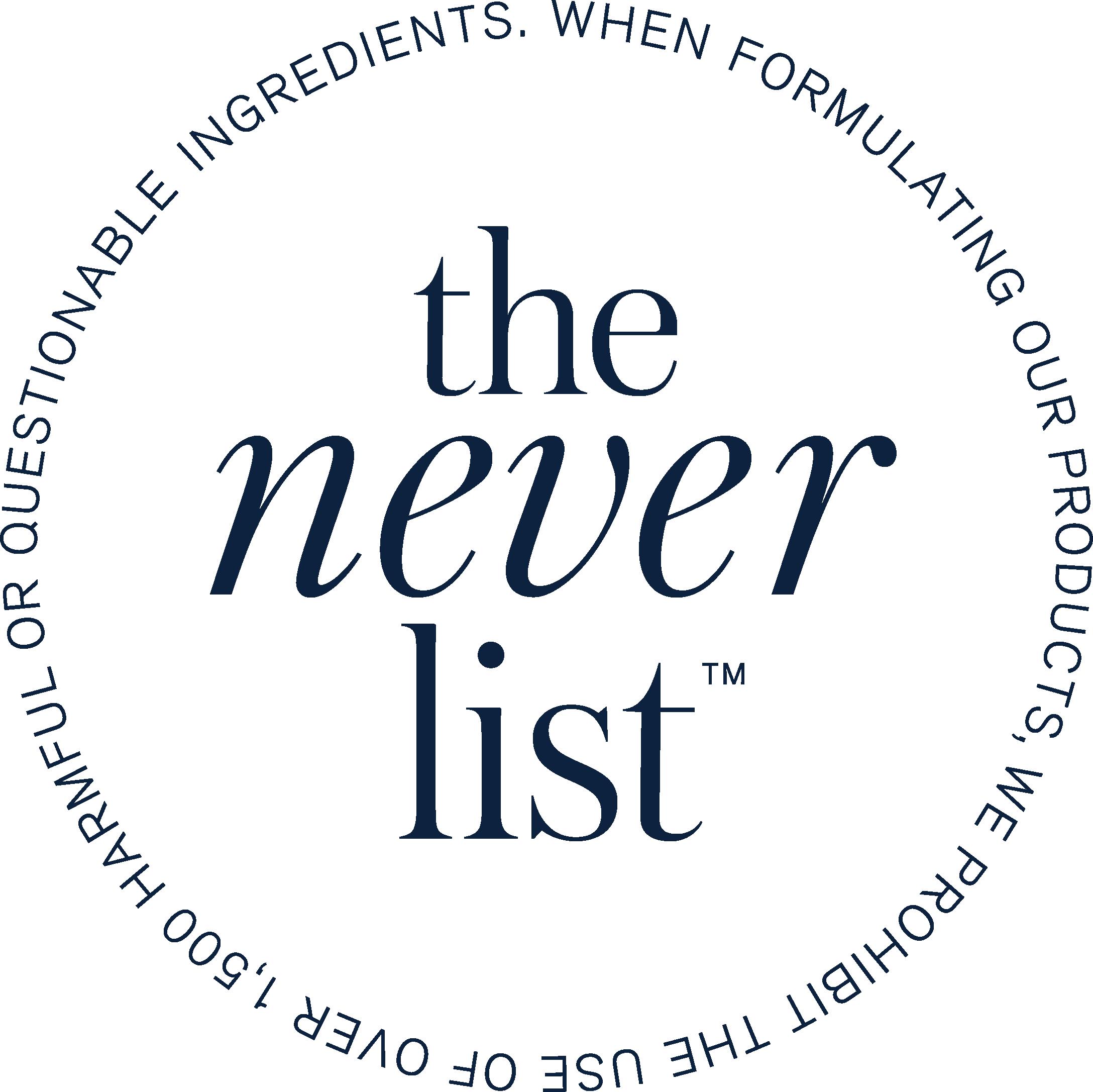 The Never List Beautycounter