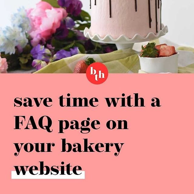 There are two different ways I would suggest delivering your FAQs to customers.  One would be a page on your website, so you would just send them across a link to this page.  This option is good because then they are on your website, and become familiar with it and all of the information it contains.  So when they are ready to place an order, or make a future order, your website will spring to their mind and they'll log on to order their next cake. ⠀⠀⠀⠀⠀⠀⠀⠀⠀ The second way you could deliver the FAQ's is to create a PDF.  This is good because it's a simple file that can be sent by email, or Facebook messenger.  You could even upload it to the files section of your Facebook business page.  By making it a PDF, rather than just a Word document, you're creating an uneditable file, so it's secure, and you can also add some styling and branding to it, so it is obvious where it came from should it get forwarded on to a contact of the potential customer. ⠀⠀⠀⠀⠀⠀⠀⠀⠀ //link in bio to read the full post! ⠀⠀⠀⠀⠀⠀⠀⠀⠀ #bakingbiz #baker #cake #cupcakes #bakingbusiness #cakepricing #webdesign #logo #logodesign #graphicdesign #cakedecorator #cakes #cake #cakepops #website #cakewebsite #cakelogo #cakepricing #cakedesigner