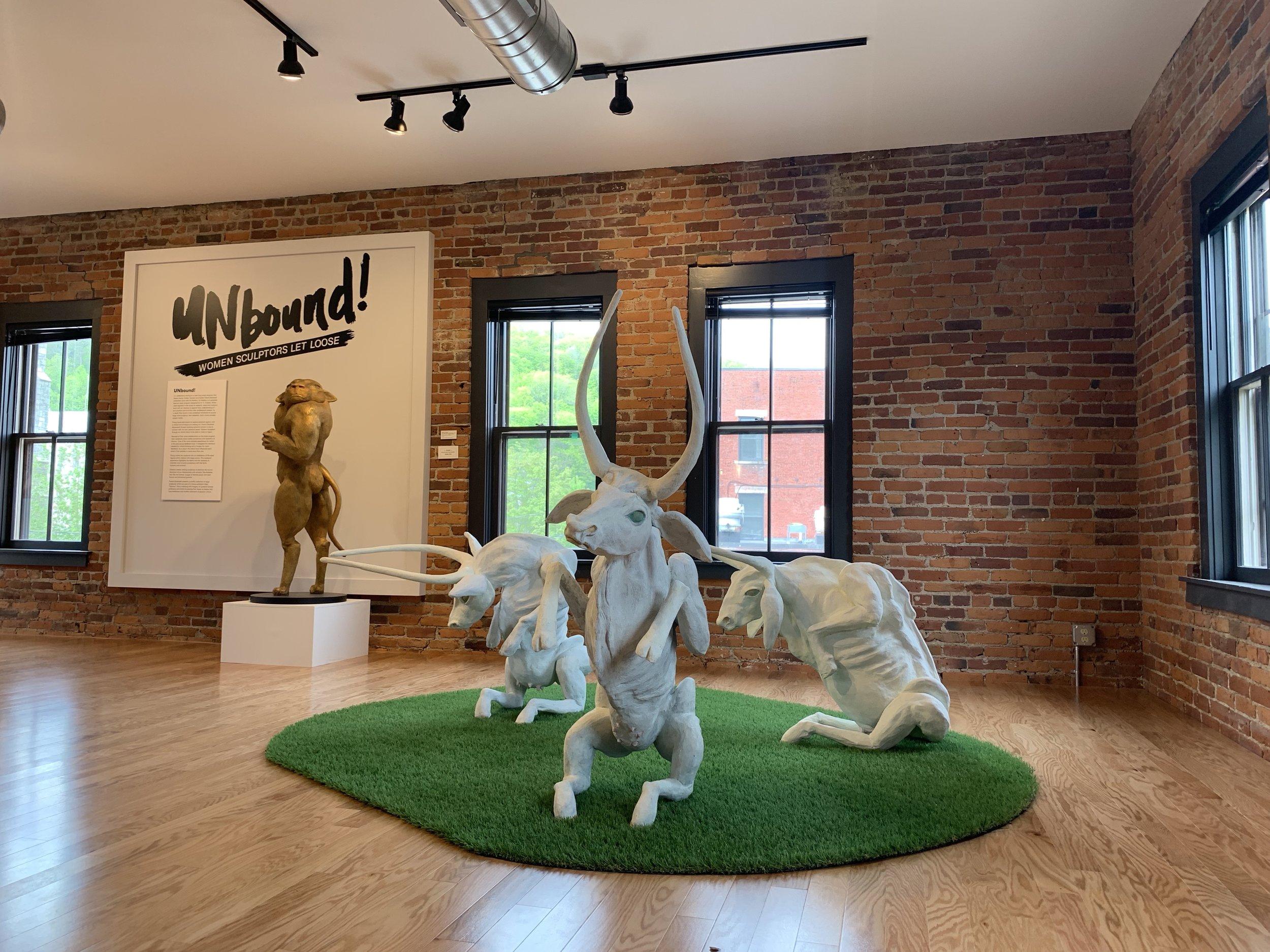 Installation at the Garage Cultural Center, Montpelier, VT, 05/2019