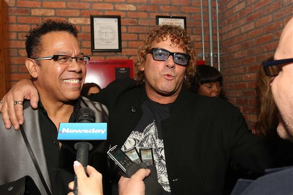 Carlos Alomar (David Bowie music director and guitarist) with me at the Long Island Music Hall of Fame award ceremony.  He gave a great speech before my acceptance.