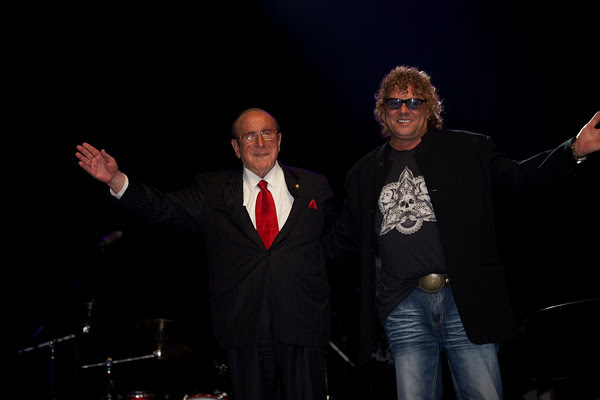 Clive Davis, my mentor, after our induction to the Long Island Music Hall of Fame.
