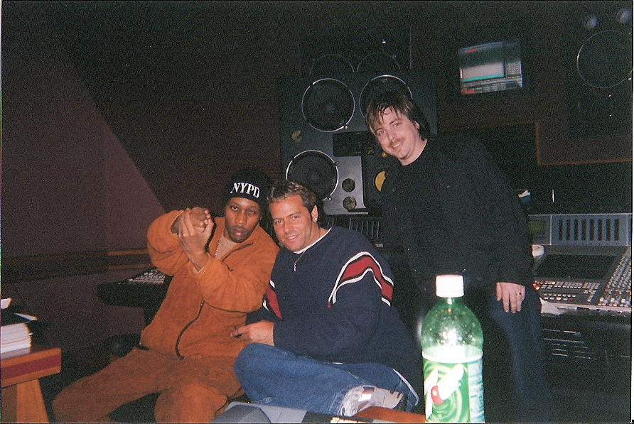 Mixing stage with RZA and the Wu in Hit Factory - NYC.