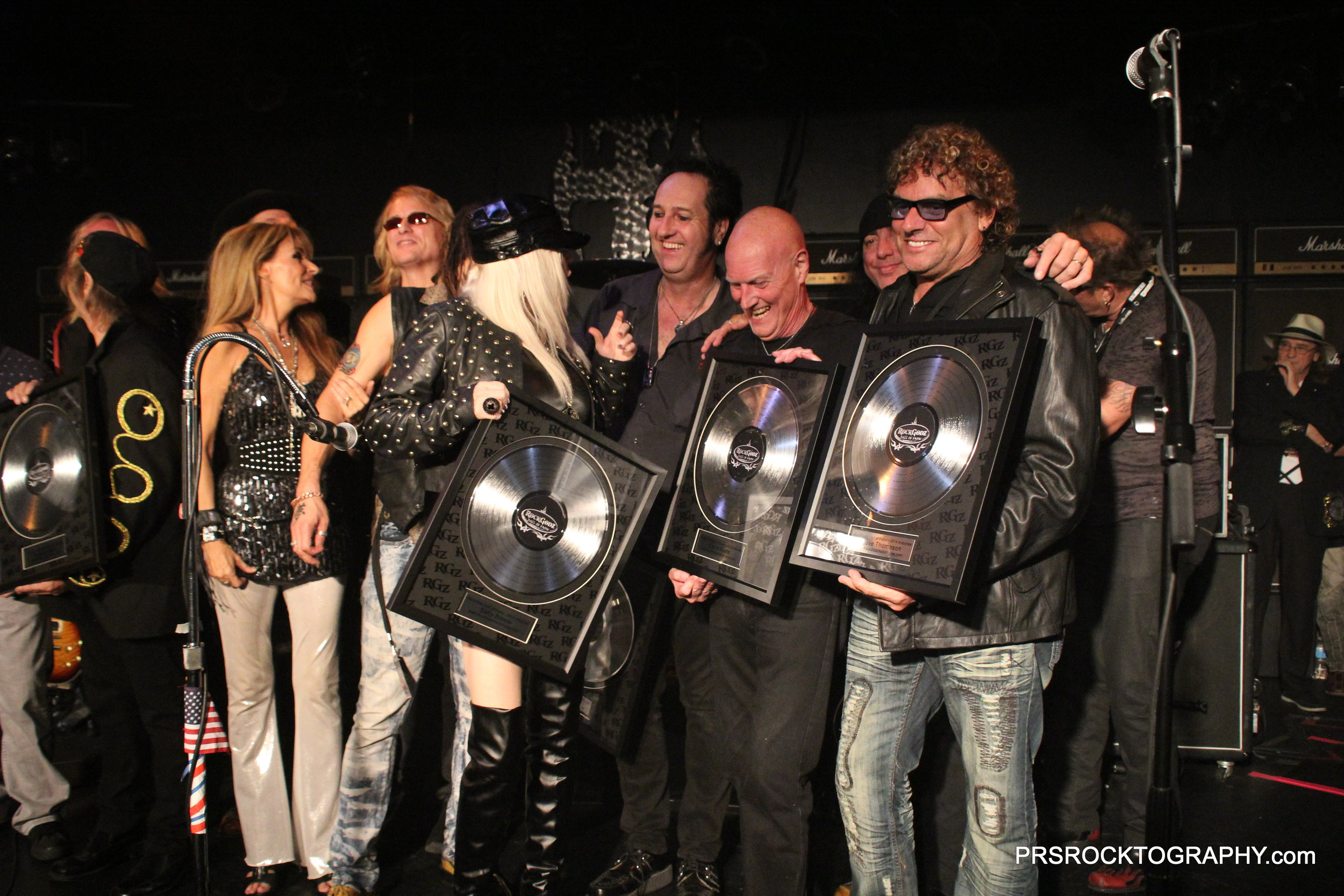 Getting inducted into The Rock Gods Hall of Fave in Las Vegas, NV