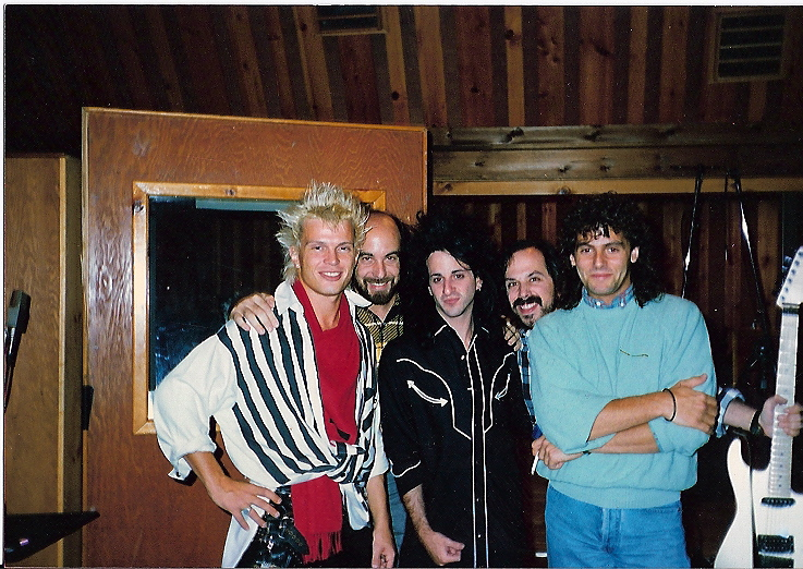 Working with Billy Idol in New York City.