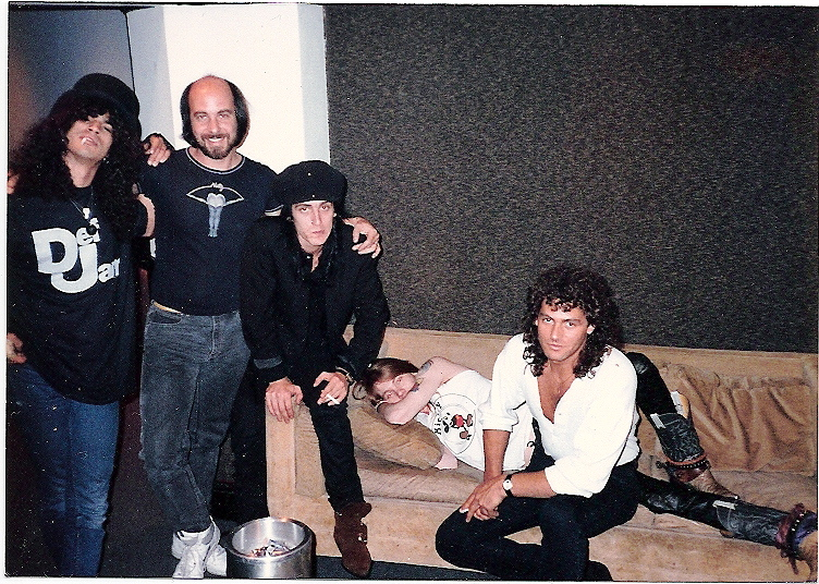 Taking a break with Guns & Roses - working on Appetite in New York City.