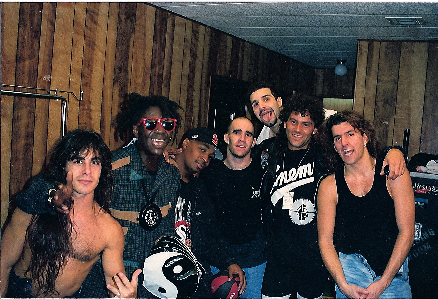 Working with Public Enemy and Anthrax in Los Angeles.
