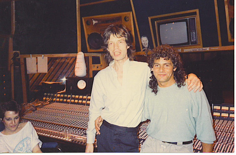 Mick Jagger and I in the studio back in the day.