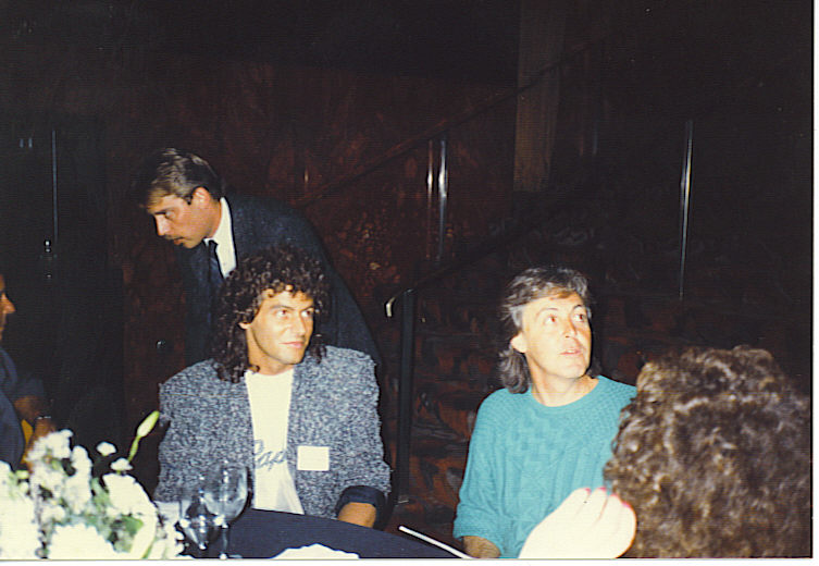 Steve and Paul McCartney at a NY press conference.