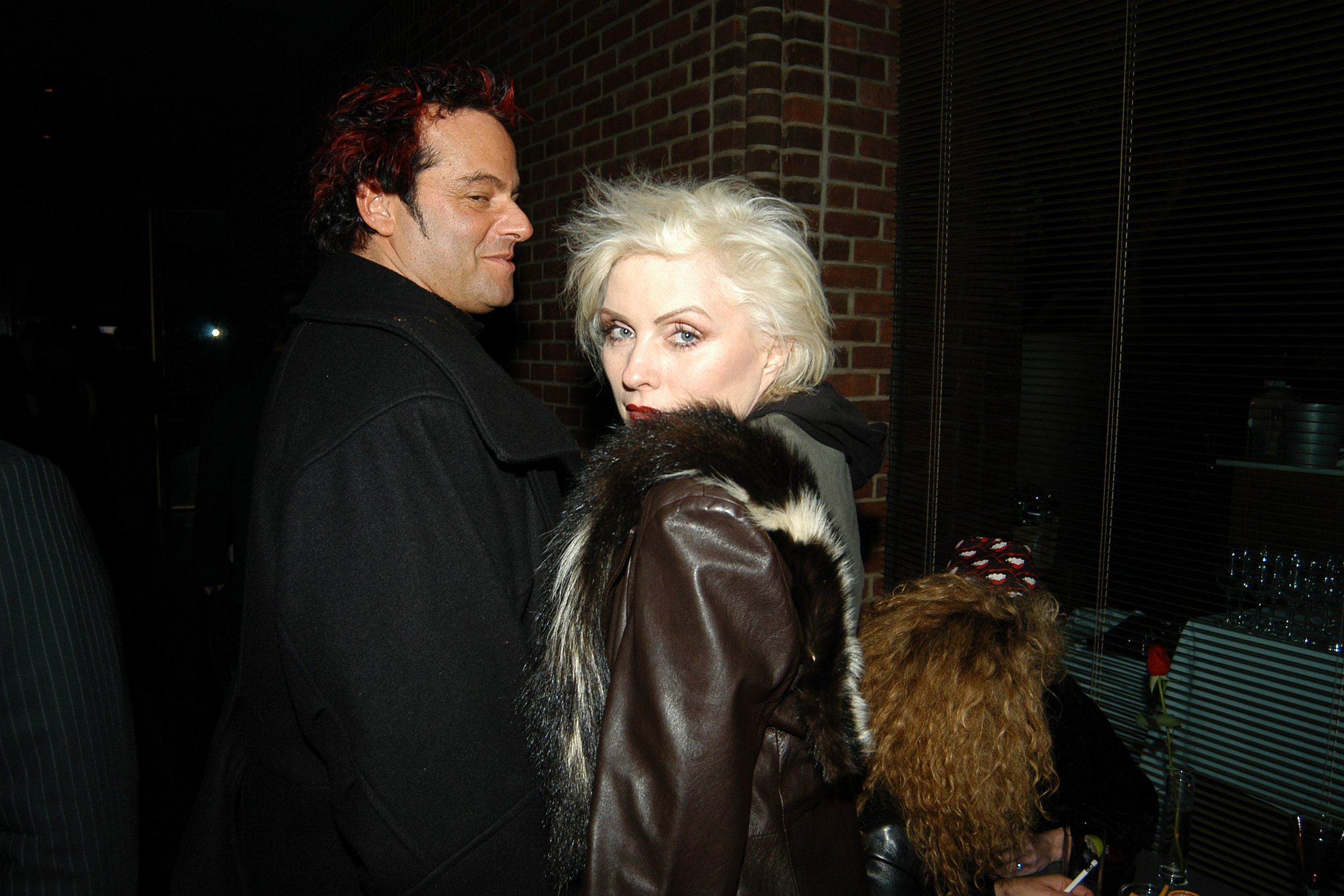 Stepping out with Debbie Harry headed to the EntertainmentTonight party after working on the new Blondie album.