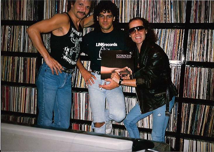 Steve with the Scorpions at his home after working together.