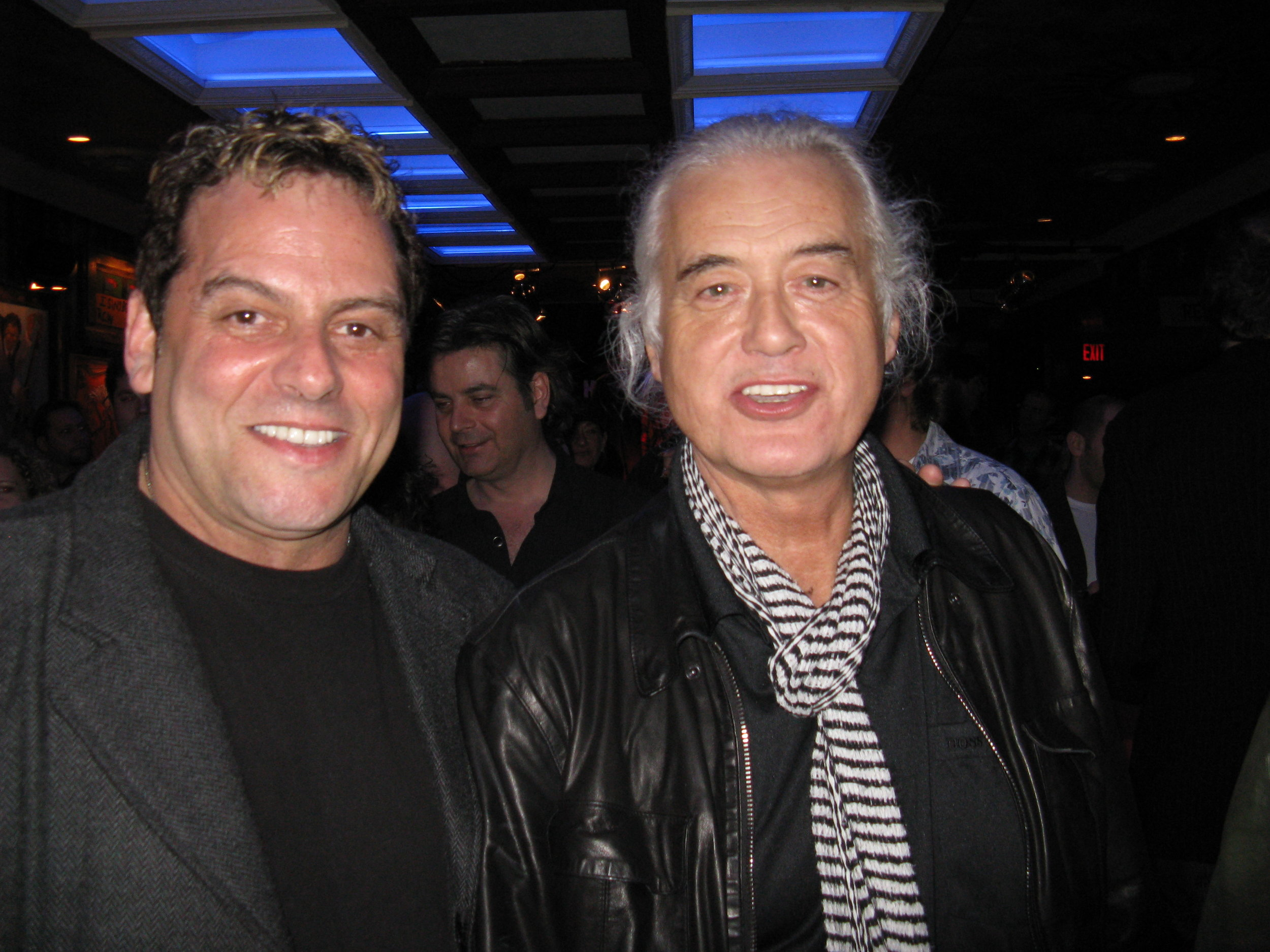 Hanging with Jimmy Page at the Rock and Roll Hall of Fame.