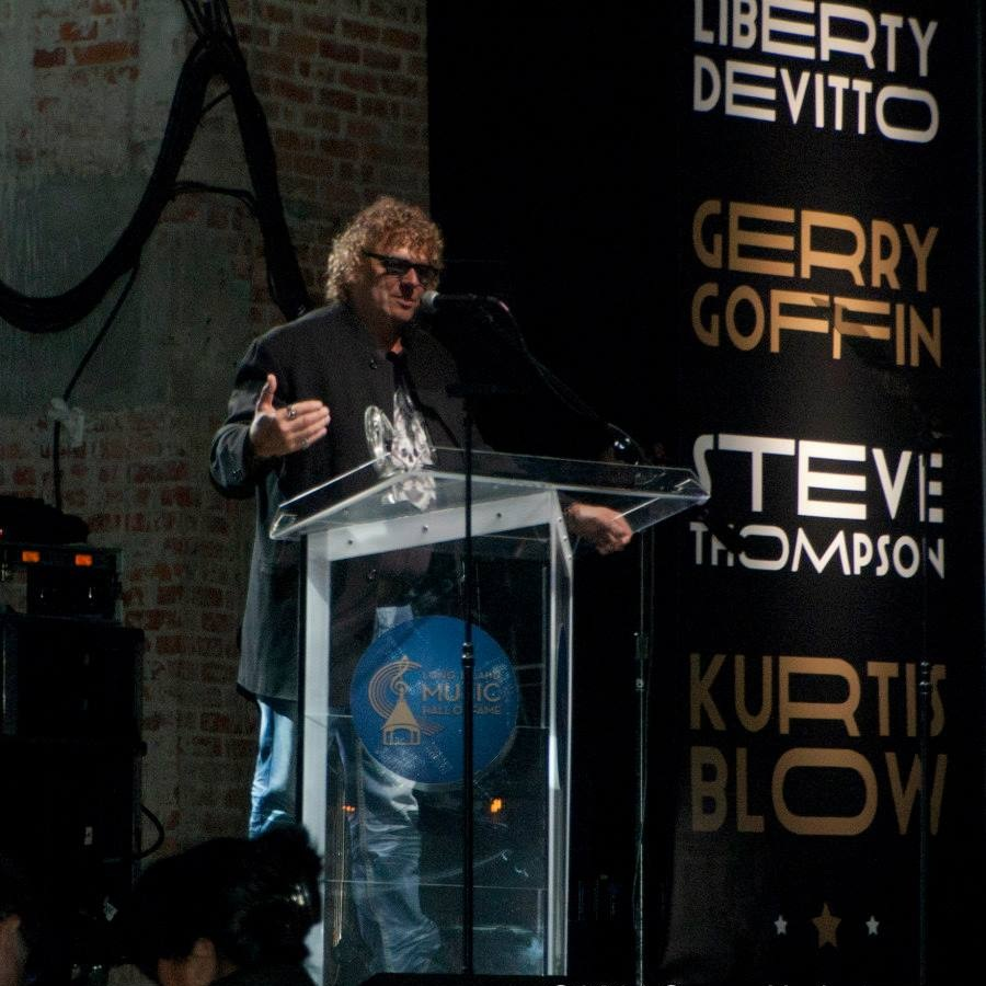 Acceptance speech at The Long Island Music Hall of Fame.