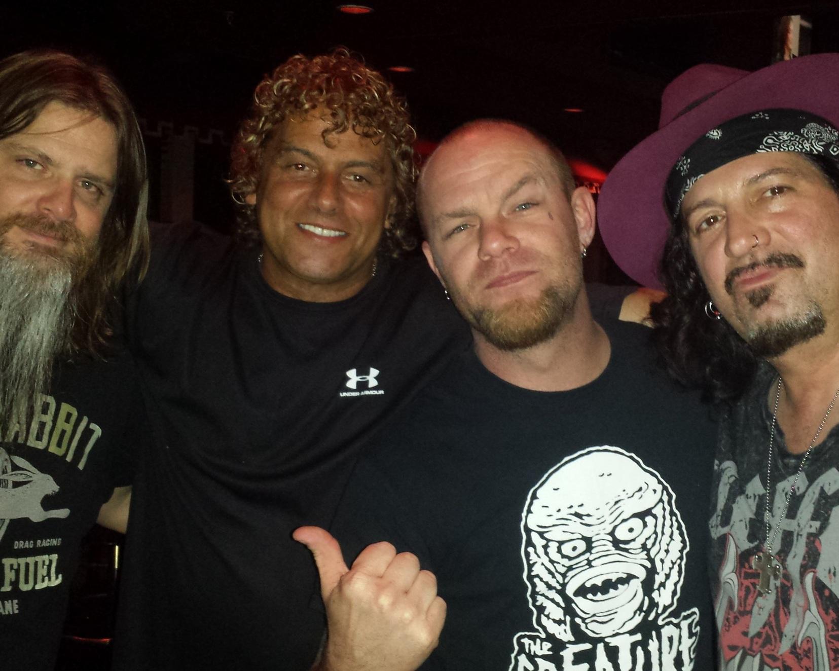 Kevin Churko, Steve Thompson, Ivan 5 Finger Death Punch and Ron M in Las Vegas