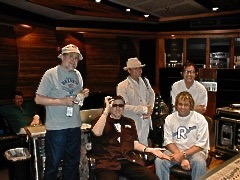 Cheap Trick and Steve Thompson working on the Rockford album in MA