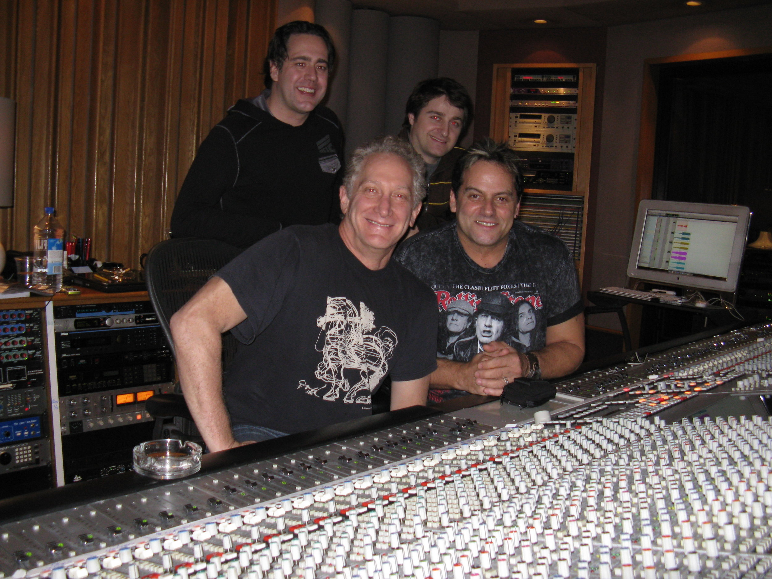 Steve Thompson and Michael Brauer at Electric Lady Studios NYC