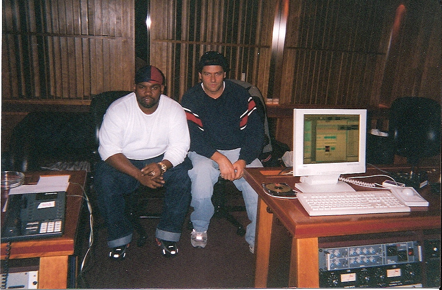 Raykwon and Steve working on Wu Tang at Hit Factory NYC