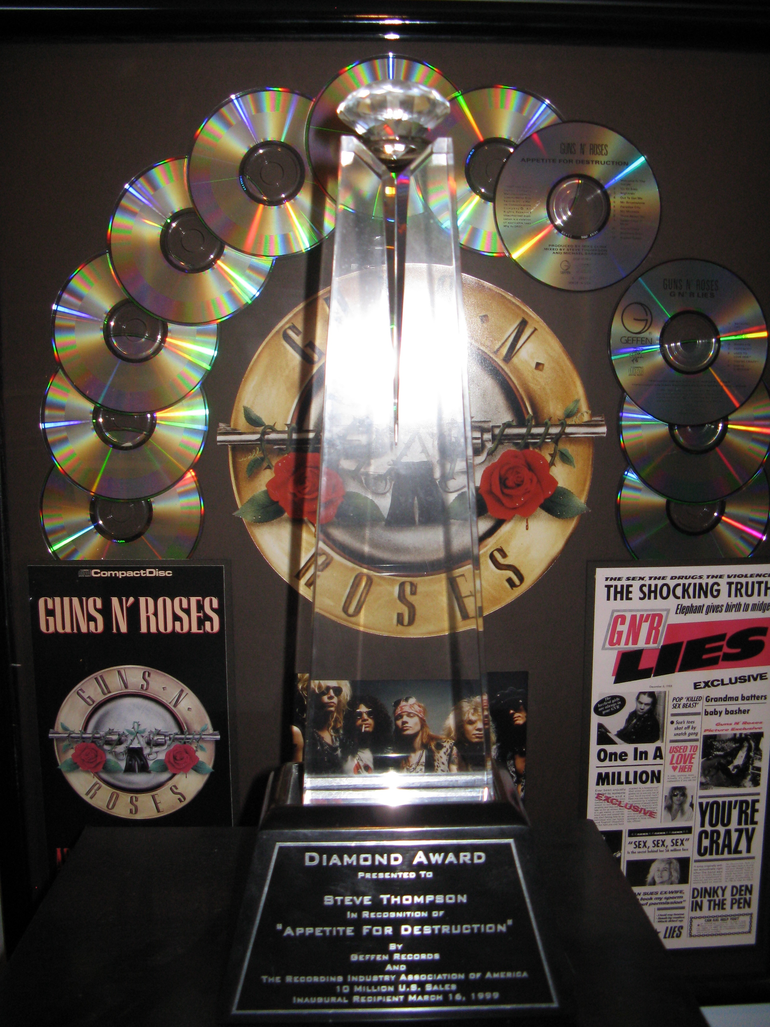 Diamond Award for Guns N' Roses