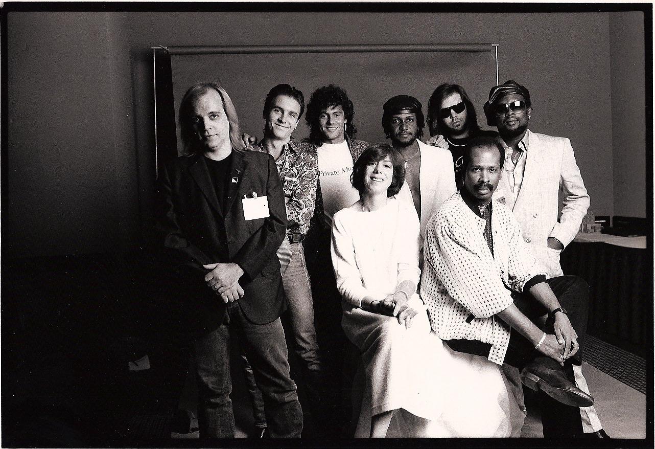 NY Music Seminar Producer Panel with Steve Thompson, Rick Rubin, Sly and Robbie, Neil from Pat Benetar, Nancy Jeffries, Ed Stasium,