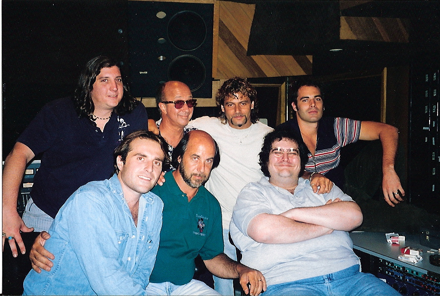 Steve Thompson, Blues Traveler, Mike Barbiero, Paul Schaffer recording for Blues Brothers movie NYC