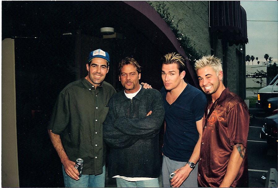 Adam Corolla, Steve Thompson, Mark M, David S during Korn session