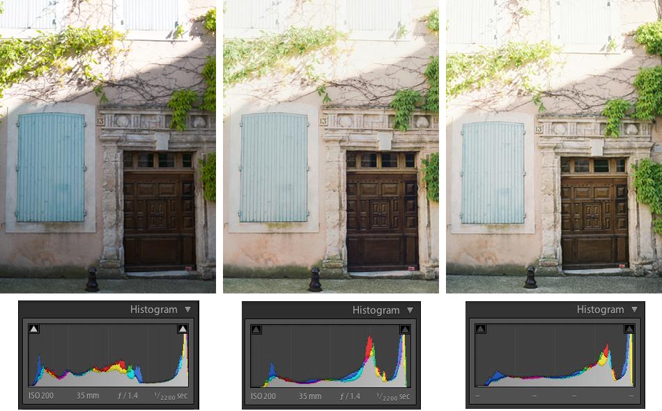 Left: SOOC, Fuji X-E1 Middle:  Rebecca Lily preset  Right: Contax 645, Zeiss 80mm f/2.0, Fuji Pro 400H