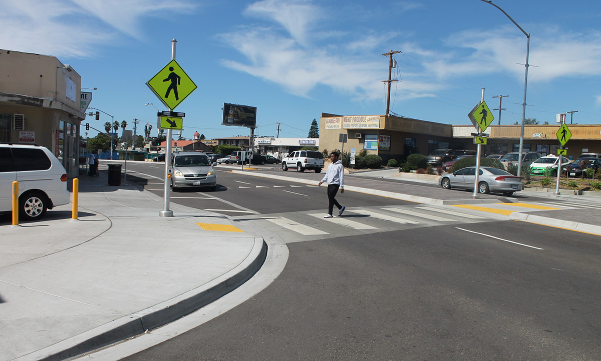 The intersection of 50th and University Ave as a green street!