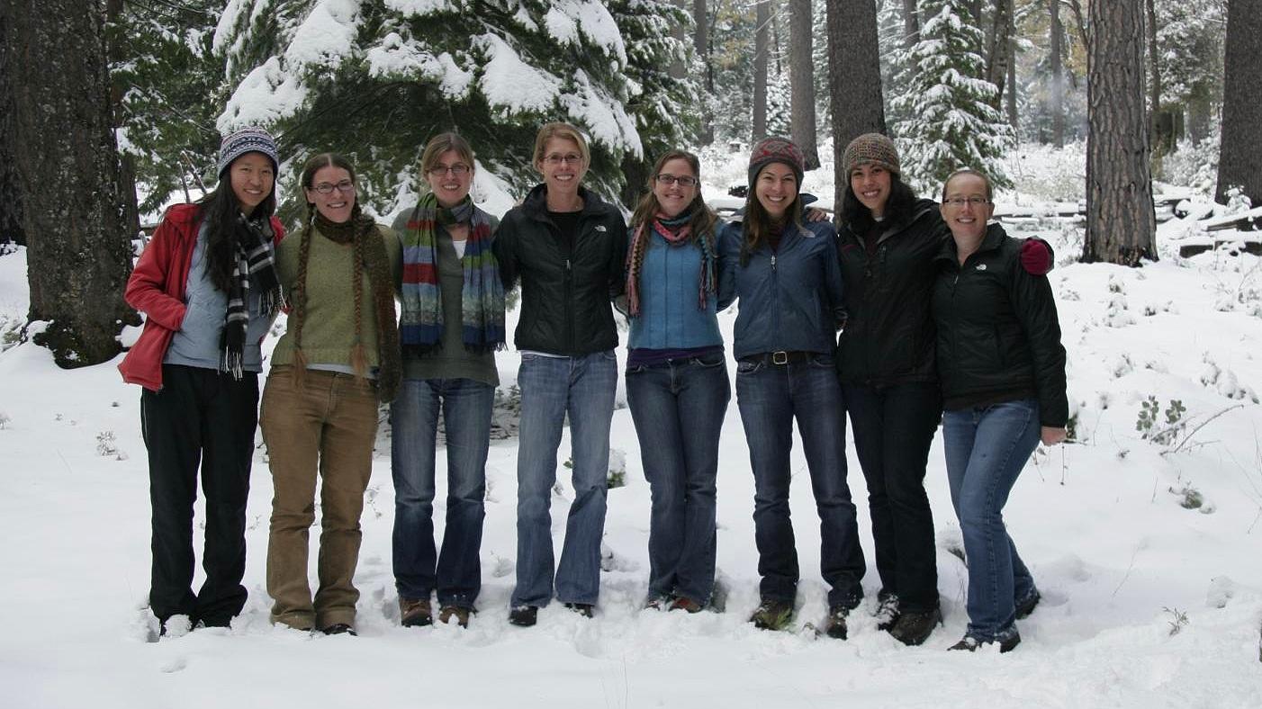 Lab Retreat 2012: Joanna Hsu, Emily Farrer, Claudia Stein, Katie Suding, SaraJo Dickens, Lauren Hallet, Loralee Larios, Erica Spotswood