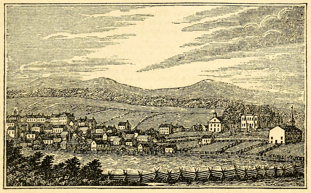 View of Abingdon, c. 1845. Image: Henry Howe's Historic Collections of Virginia, Public Domain.