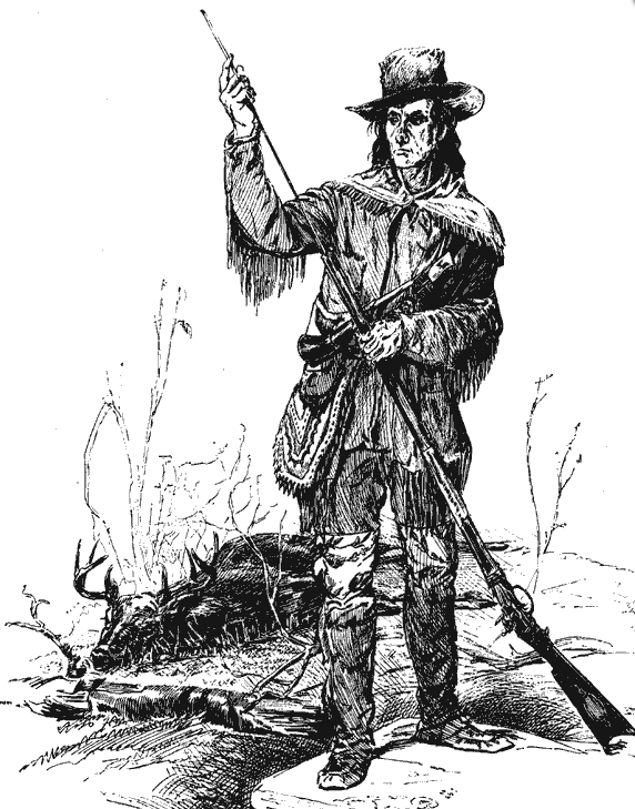 Longhunter with deer. Illustration: The State Historical Society of Missouri, CC BY-SA 4.0.