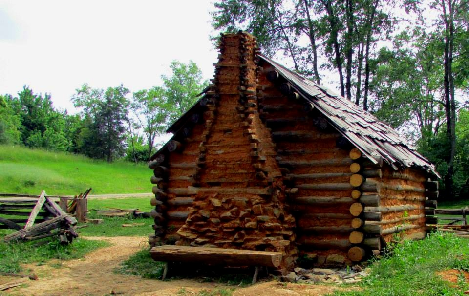 1740s settlement cabin. Photo courtesy of Frontier Culture Museum of Virginia.