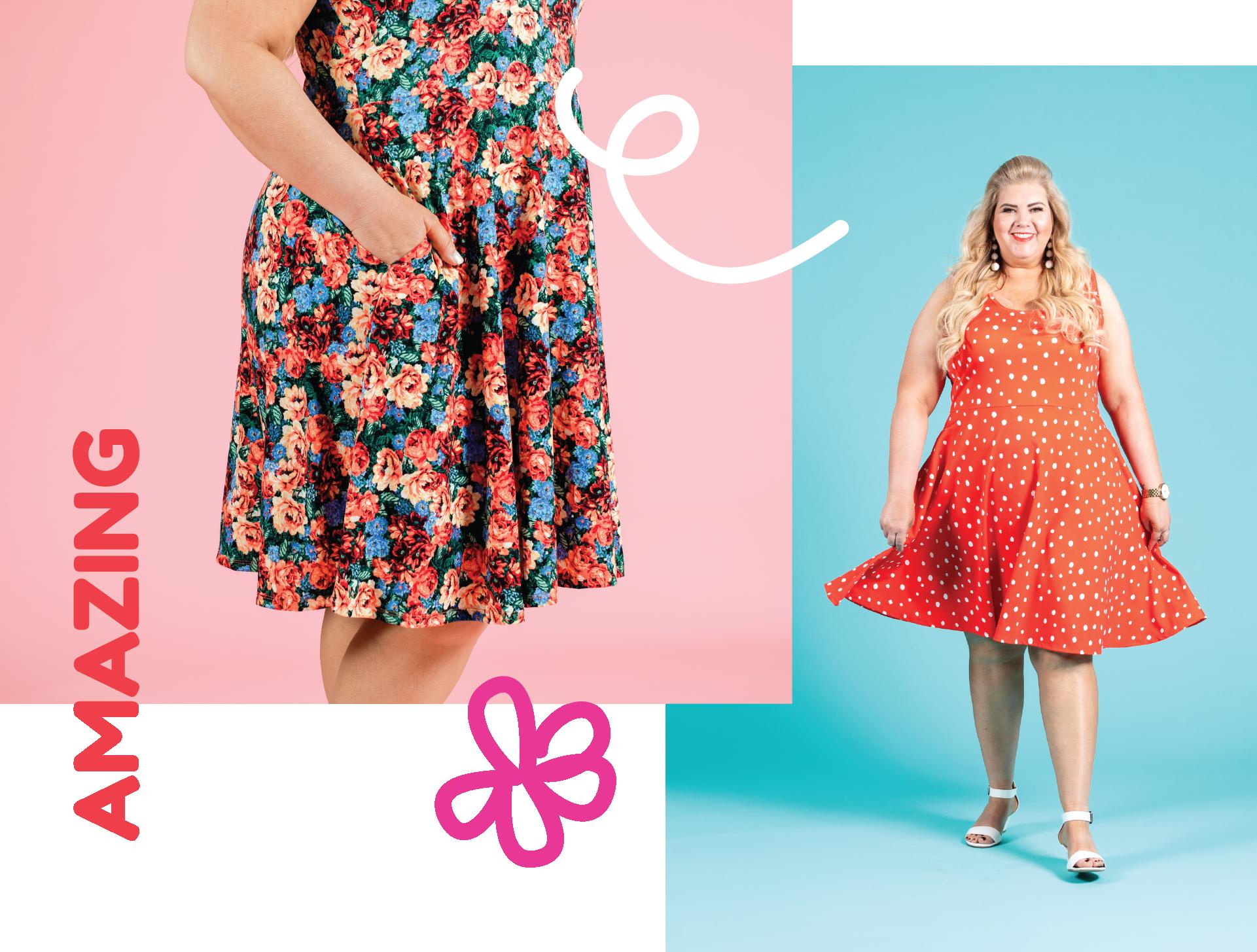 ecac3460a LuLaRoe Nicki Sleeveless A-Line Dress 3XL Size — LuLaRoe Sleeveless ...