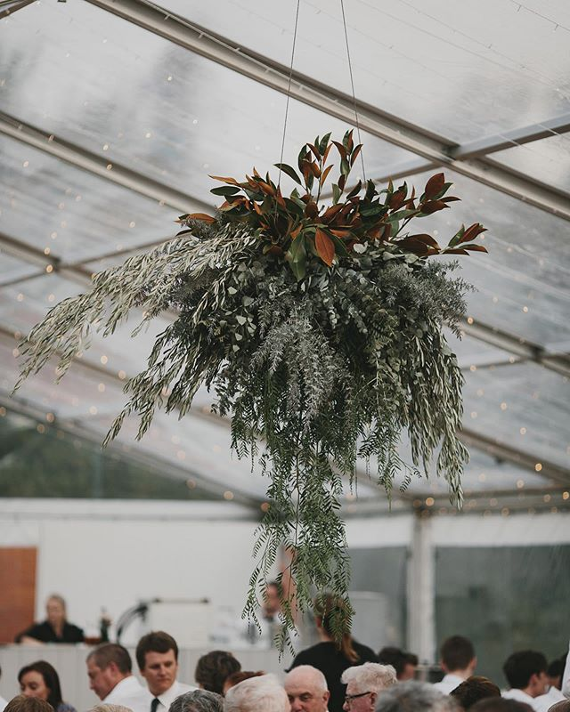 Foliage chandeliers for Emily & Tom 🕊 . . . . Photographer : @lukechisholm