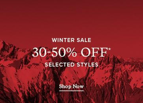 Rodd and Gunns Winter Sale now on at Morrison Square. 30-50% off selected styles. Rodd & Gunn