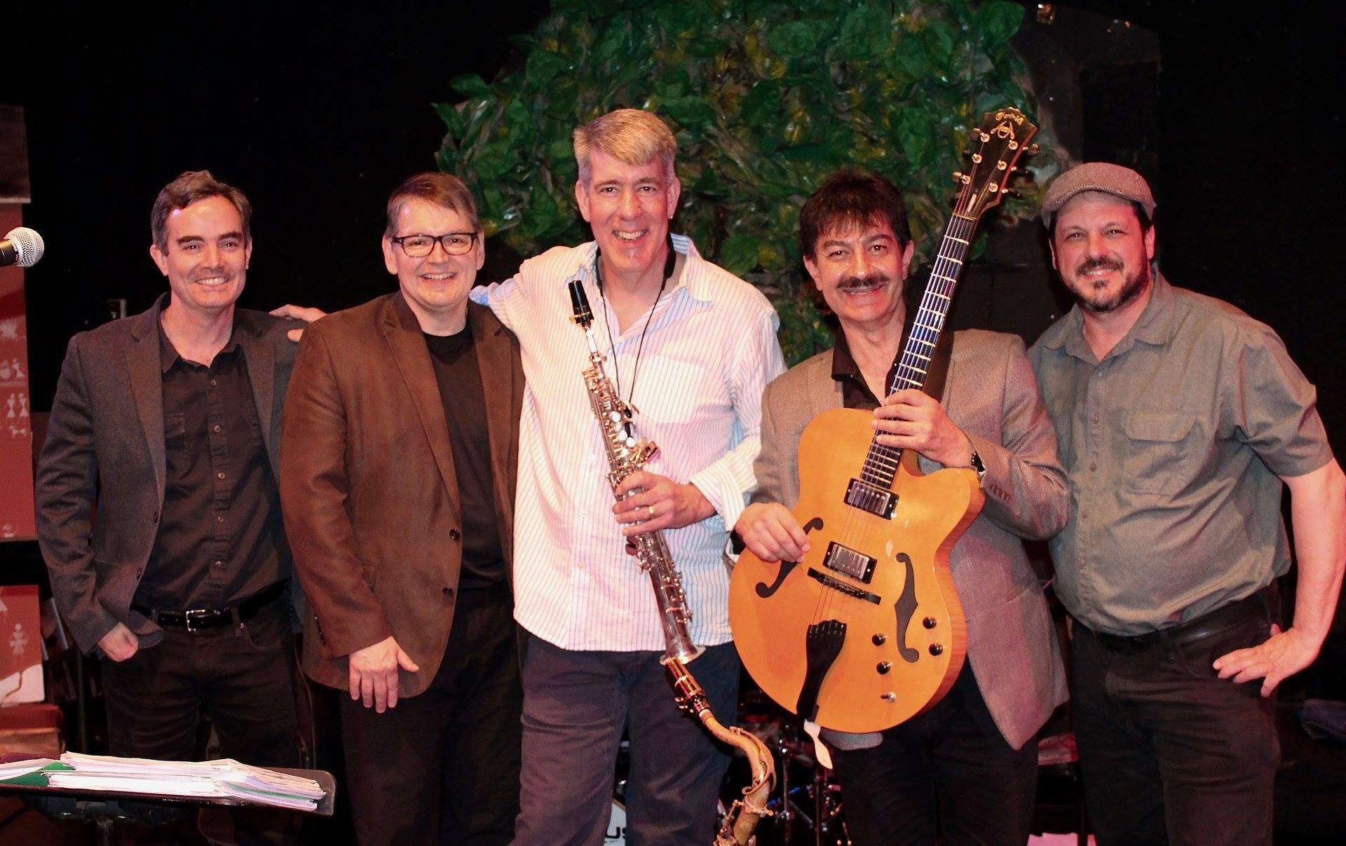 Daniel Ian Smith and The Latin Side of Billy Strayhorn Band. w/Fernando Huergo, Russell Hoffmann, Daniel Ian Smith, John Baboian, Steve Langone. photo by Cary Mulcahy