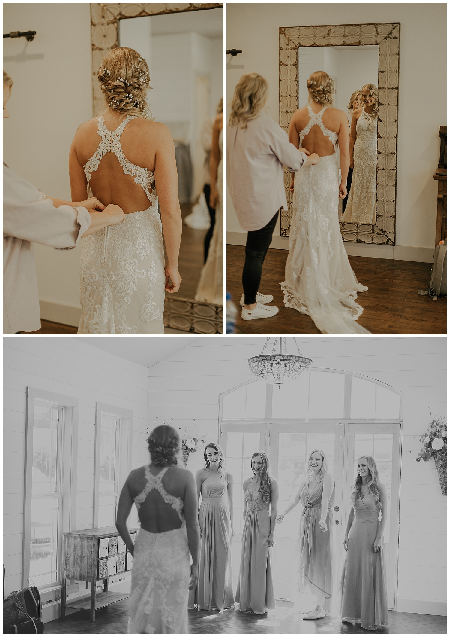 Another effect of being in the military is not being able to dress shop with your girls. This sounds like a downfall at first but it ends up making the wedding day all the more special by having a first look with your girls!