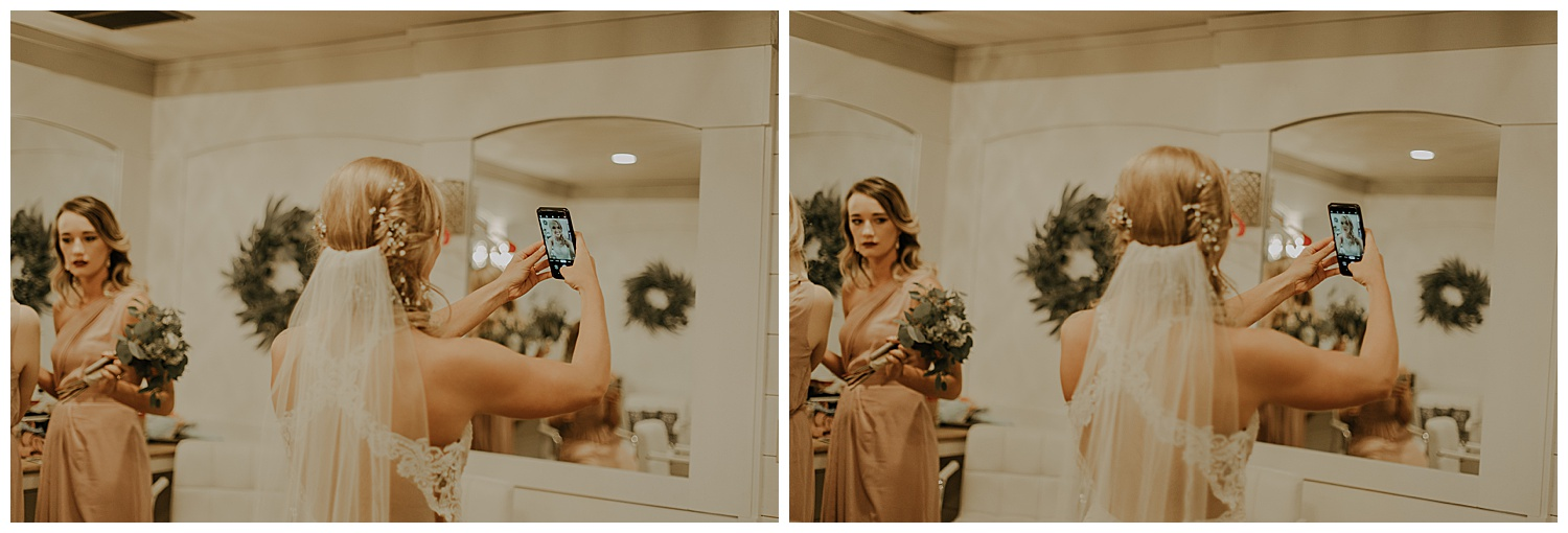 Right before the ceremony started Ashley found Saul's phone! She took a few selfies on it. I know those pictures she took will be so special to Saul. His phone saw her before he did ;)