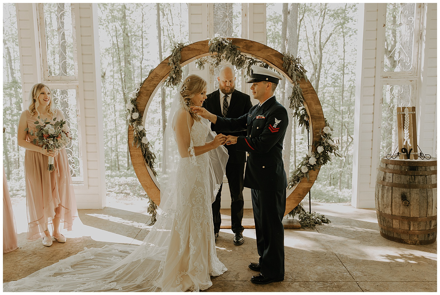 Get you a groom that helps you out, even during your vows!