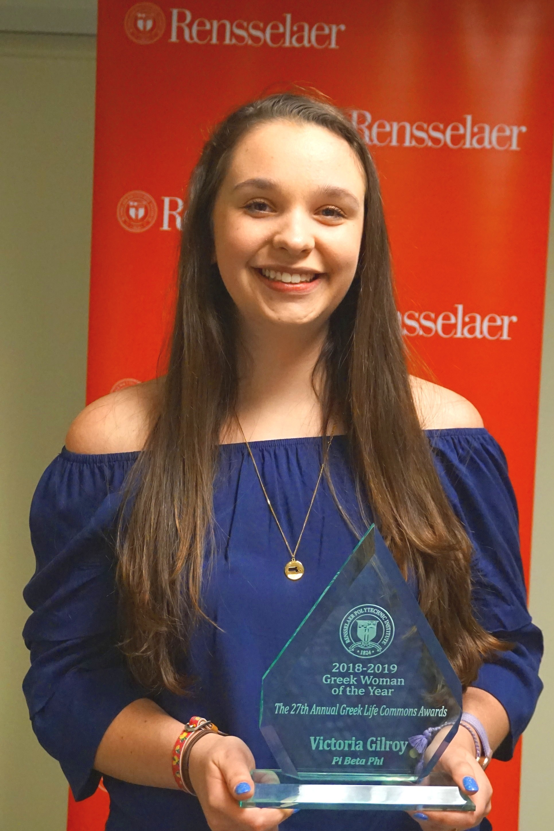 Greek Awards 2019 - The Panhellenic chapters won so many awards for 2018. Our own Panhellenic President, Tori Gilroy, won Greek Woman of the Year! The 2018-2019 President's Cup was awarded to Pi Beta Phi, making them chapter of the year!