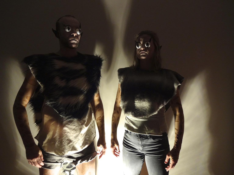 Astro_Morphs (masks off) , 2017, promotional image, Fringe World Festival, Perth.