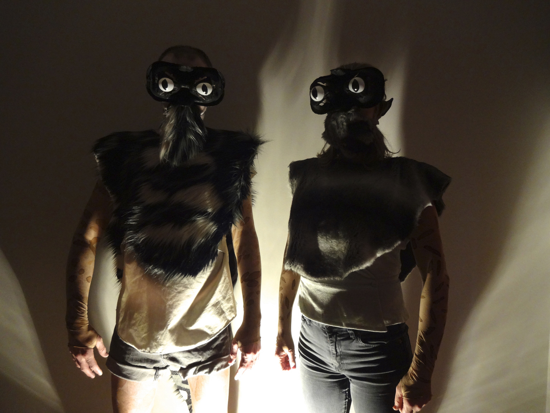 Astro_Morphs (masks on) , 2017, promotional image, Fringe World Festival, Perth.