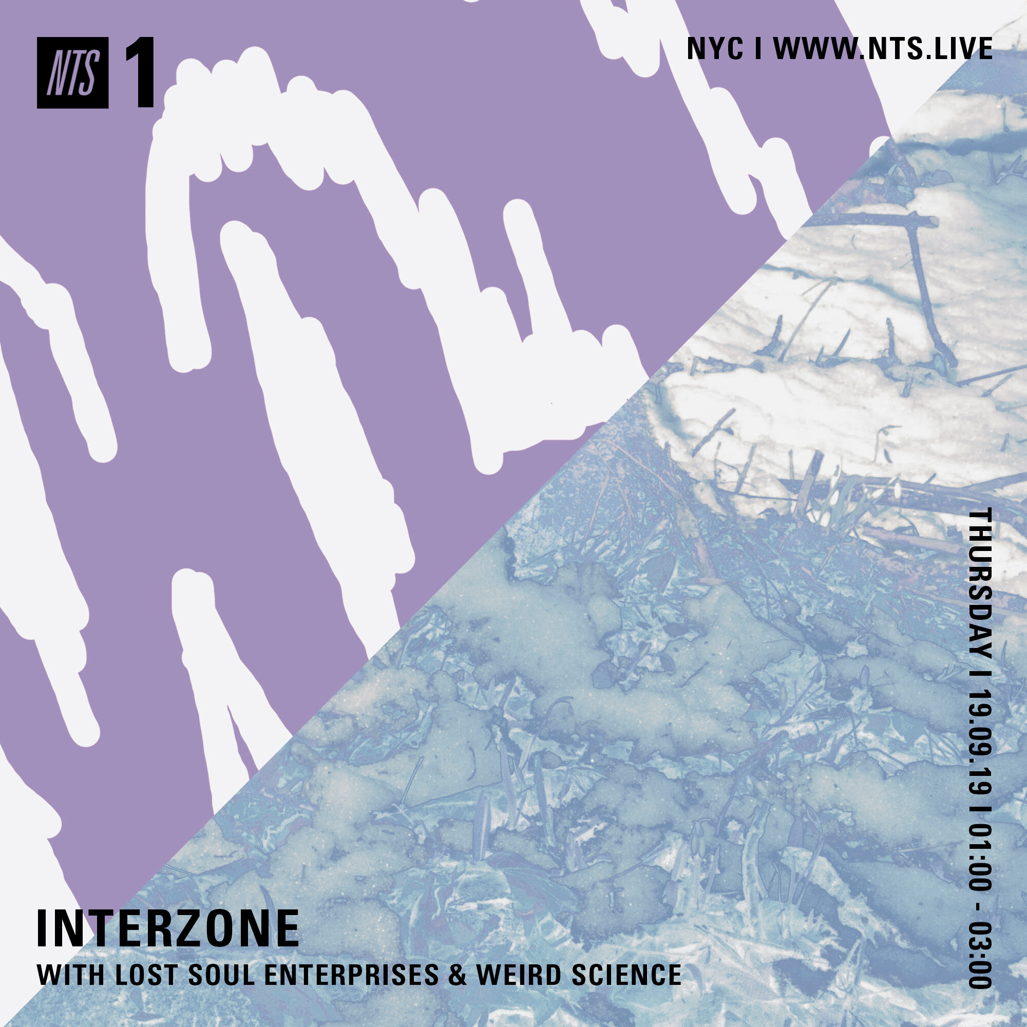 Tune into NTS Radio this evening for the first of our INTERZONE radio sessions. Tonight's show features Lost Soul Enterprises (with IZ2019 artist Nihal Ramchandani) and Weird Science.  Listen back:  https://www.nts.live/shows/guests/episodes/interzone-19th-september-2019