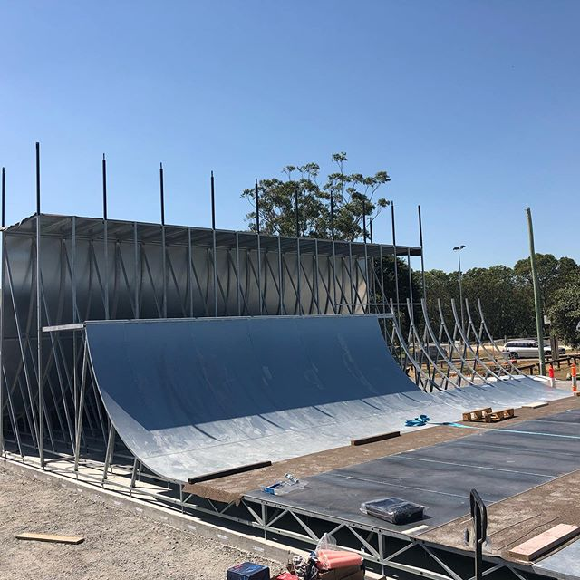 There is over 14000  pieces in this skatepark which had to be engineered , manufactured and now assembled. Over 40t of steel have so far gone into  this with a lot more to come.