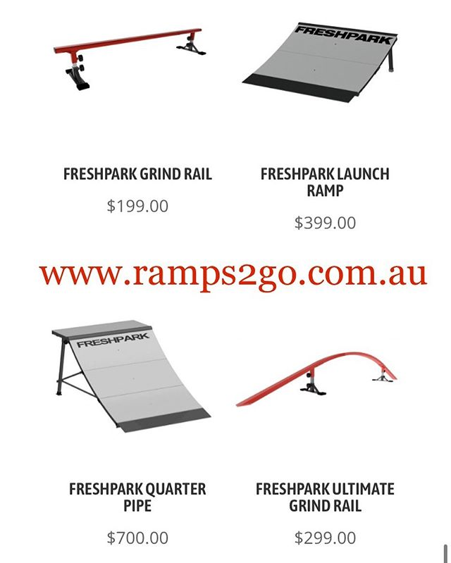 🚨🚚🎁Fresh Stock🎁🚚🚨 www.ramps2go.com.au New FreshPark Ramps, Rails, Fun Boxes and more!! Delivered to your Door!! Skate, Scoot, BMX and Moto!! Turn your own home into a skatepark!!