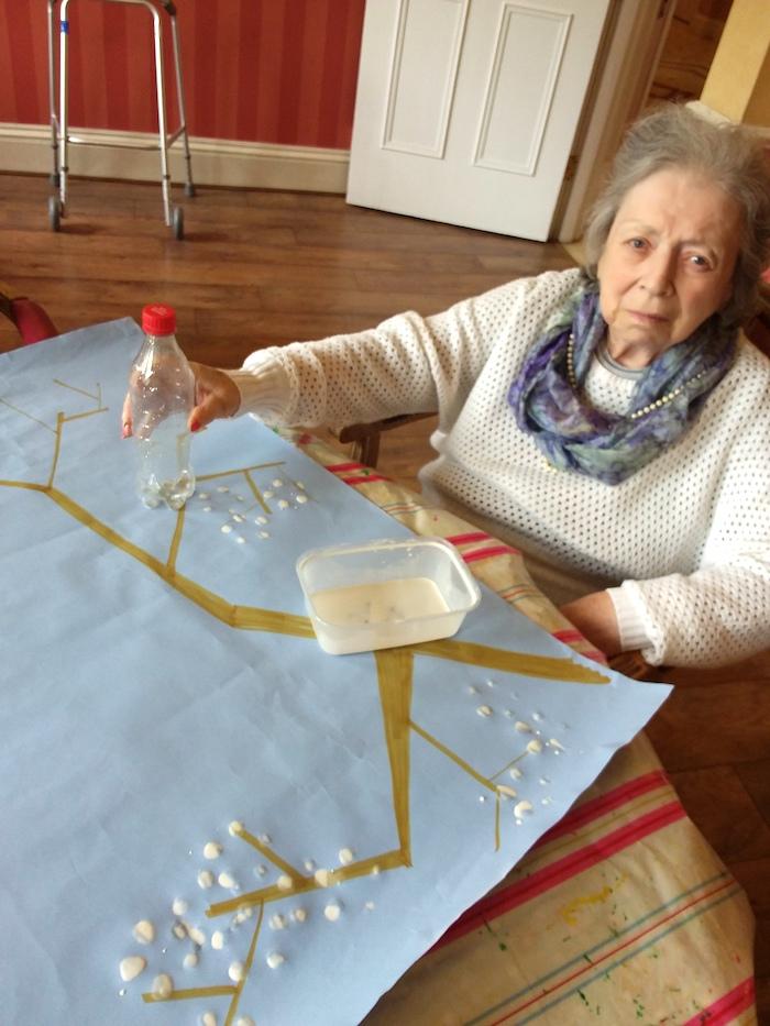 Creative Art Sessions at Tregolls Manor Care Home - Blossom
